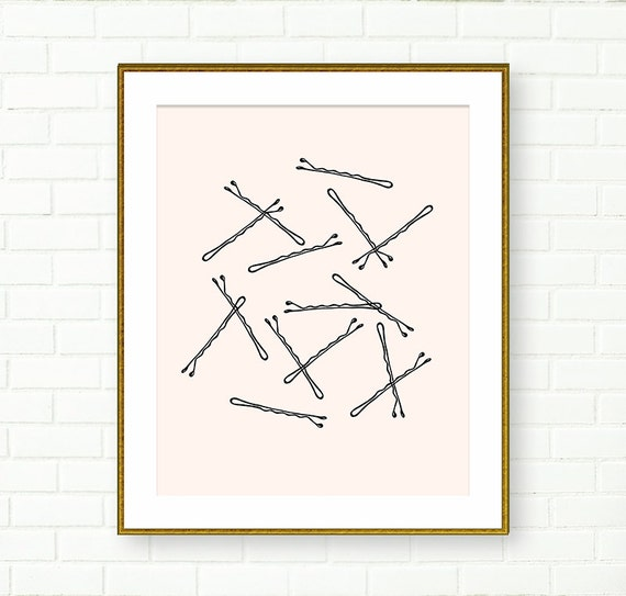 Bobby Pin Print Wall Art Glam