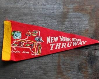 Vintage New York Thruway Pennant