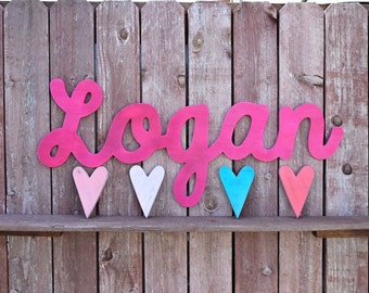 Logan Extra Large Name sign  - Nursery Decor - Extra Large over the crib baby name sign