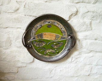 Wall Hanging Ceramic Plate. Home Decor, Serving Platter, Centerpiece, Handmade Pottery Tray, Ceramic art, Wedding gift, Anniversary gift