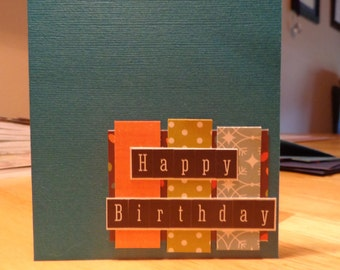 Clean and Simple birthday greeting card