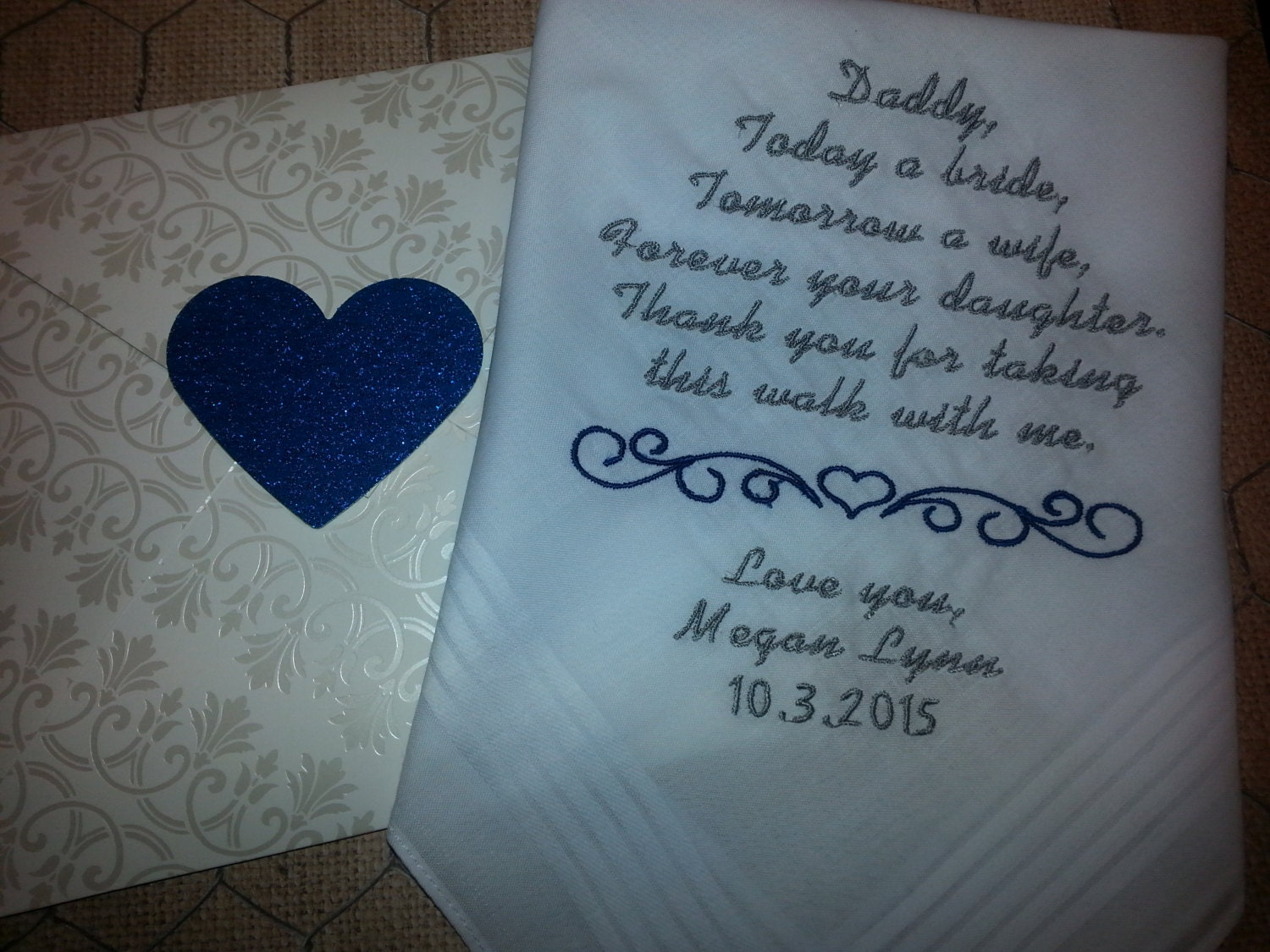 Father of the Bride. Gift for Dad. Embroidered Wedding