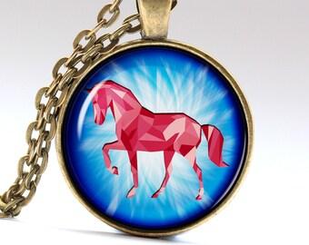 Horse Jewelry Pony Pendant Stallion Necklace Horse Necklace Horse Pendant Pony Necklace Pony Jewelry Stallion Pendant Stallion Jewelry LG002