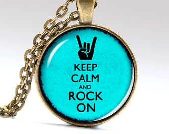 Rock n roll Necklace, Rock n Roll Jewelry, Rock on Pendant, Necklaces, Pendants, Jewellery  LG522