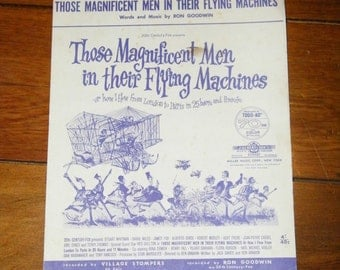 Those Magnificent Men in Their Flying Machines, Vintage Sheet Music