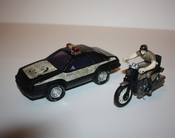 Vintage Buddy L Corp Made in Japan Chips Car and Motorcycle