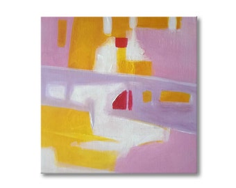 Pink painting Abstract painting Contemporary Art Abstract wall art Acrylic painting Modern Art Landscape painting Original art Wall hanging