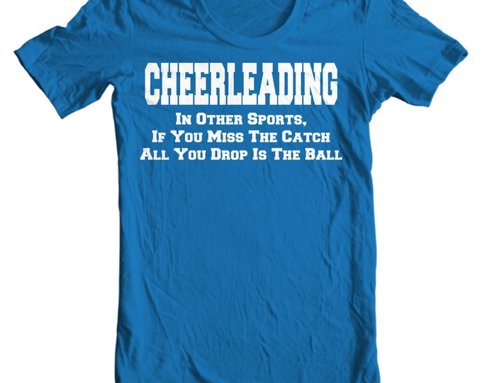 Cheer Life - Cheerleading Drop The Ball Womens T-Shirt