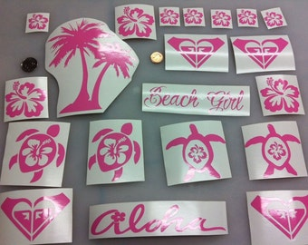 Beach Car Decal Etsy - Car decal stickers for girls
