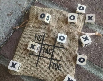 tic tac toe, travel game, christmas gift, stocking stuffer, wedding favor