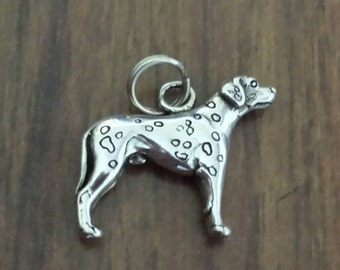 Sterling Silver Dalmatian Dog Charm by H&H Silversmiths