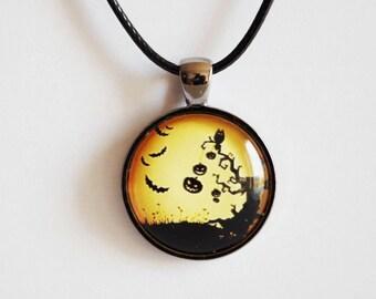 Halloween  necklace Halloween Pumpkins pendant Halloween jewelry Pendant