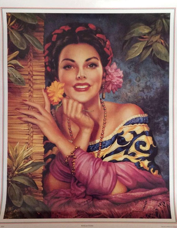 Vintage Calendar Art : Vintage traditional mexican calendar art jesus by