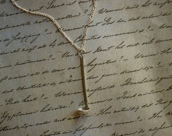 BIRTHDAY SALE! 20% OFF - Miniature Ladle Necklace In Sterling Silver