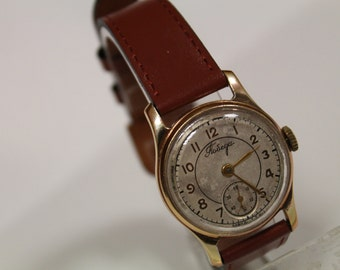 USSR Mechanical men watch Pobeda / Victory / vintage Soviet USSR gift for him.USSR vintage watch Pobeda 15 jewels 1950s. Working Condinion!!
