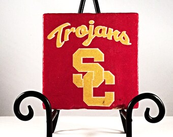 SC Trojans Coaster Set  ( includes 4 matching tiles )