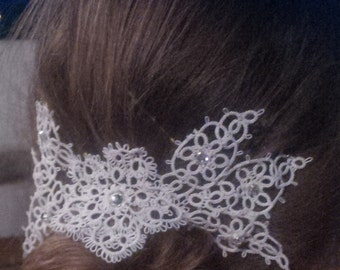 Wedding hairstyle in tatting