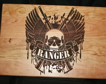 Army Ranger Personalized Cutting Board