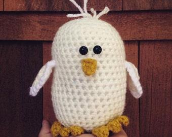 Handmade crochet bird- stuffed animal bird- knit plush bird- handmade chubby bird- stuffed toy bird