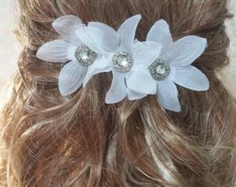 Bridal Hair Barrette white