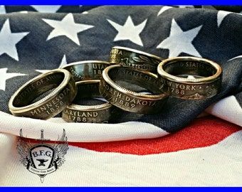 State Quarter Coin Ring, Pick Your State !