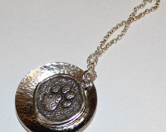 Paw Print Pendant Necklace