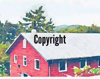 Photo Turned to Art - Barn