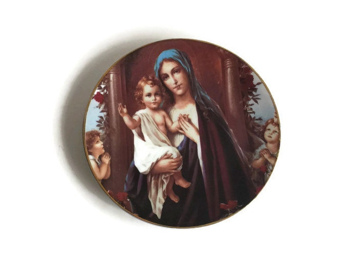 Religious Collectible Plate with Mary and Jesus