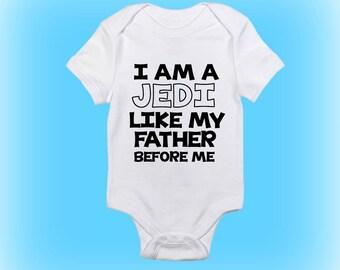 Star Wars Onesie® - I Am A Jedi - Jedi Onesie - Gift for New Daddy - Baby Boy - Baby Girl - Baby Onesie - Baby Clothing - Baby Gift Idea