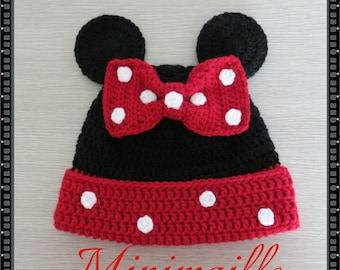 Bonnet Minnie customizable hook hand made.