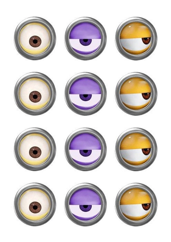This is a graphic of Unusual Minions Printable Eyes