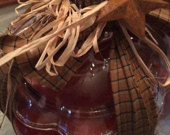 apple pumpkin in a pumpkin jar 2 wicks