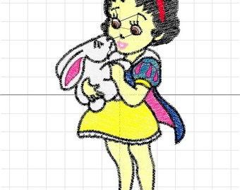 snow white machine embroidery