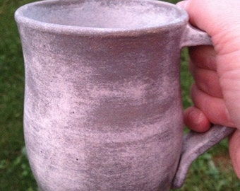 Wheel thrown pottery stoneware mug