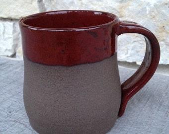 Firebrick Red, Unglazed Raw Clay Wheel thrown mug