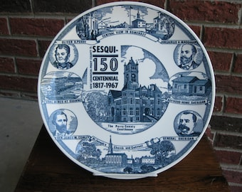 New Lexington-Perry County Ohio Sesquicentennial Plate 1817-1967