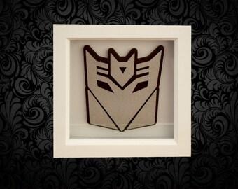Tansformer Decepticon Box Frame Art