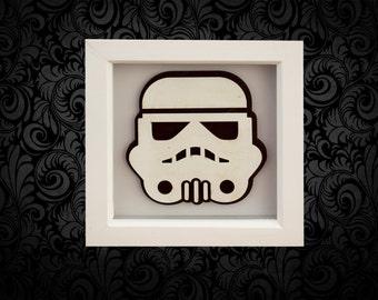 Storm Trooper 3D Box Frame Wall Art