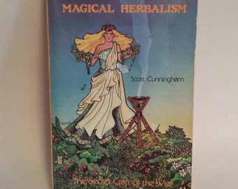 Magical herbalism reference book, vintage book,  vintage herbalist, witch book, pagan magic book