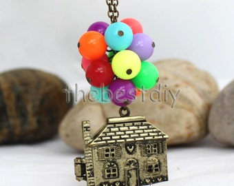 Up Movie House necklace