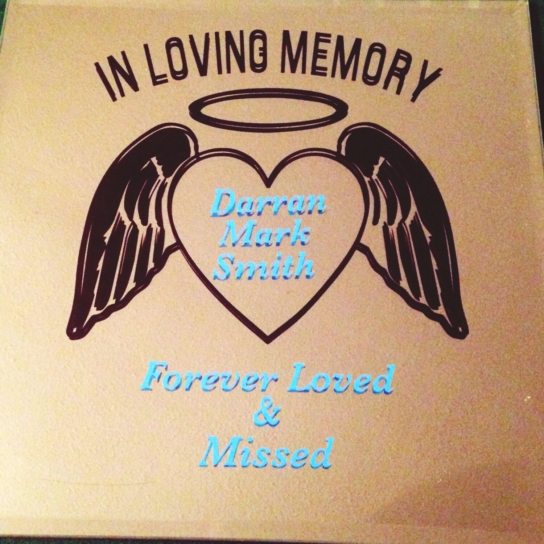 In Loving Memory Vinyl Decals In Loving Memory Graphics