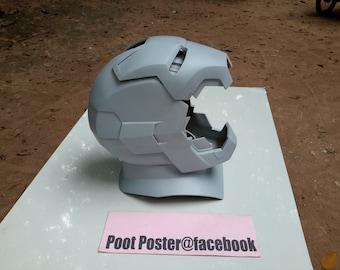 Iron man mark 42/43 helmet + neck scale 1:1 wearable helmet raw cast kits