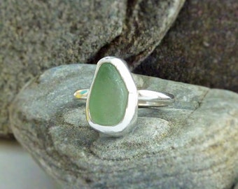 Seaglass Sterling Silver Ring