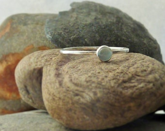 Sterling Silver Aquamarine Skinny Ring - SOLD - but more can be made