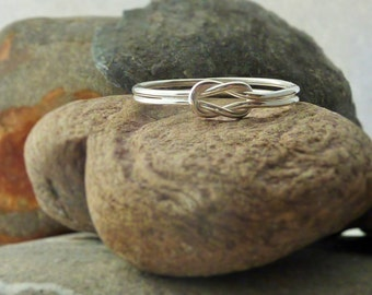 Sterling Silver Lovers Knot Ring