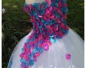 Flower Girl Tutu dress - flower tutu dress - pink and purple tutu dress - flower girl tutu - flower petal dress - flower girl dress - tutu
