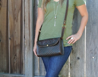 Cross Body Leather Navajo Bag