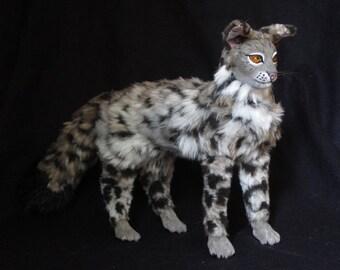 Wild Cat OOAK Poseable Art Doll