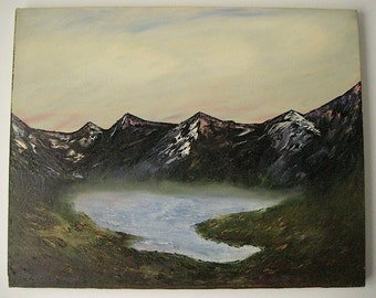 """Beautiful Relaxing """"PEACE on EARTH, PLEASE!"""" Original Oil Painting, 16X20 Signed, U.S. Artist, U.S. Painted, Circa 1994"""