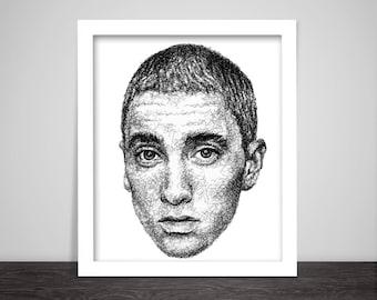 Scribbled Eminem - Hip Hop Poster